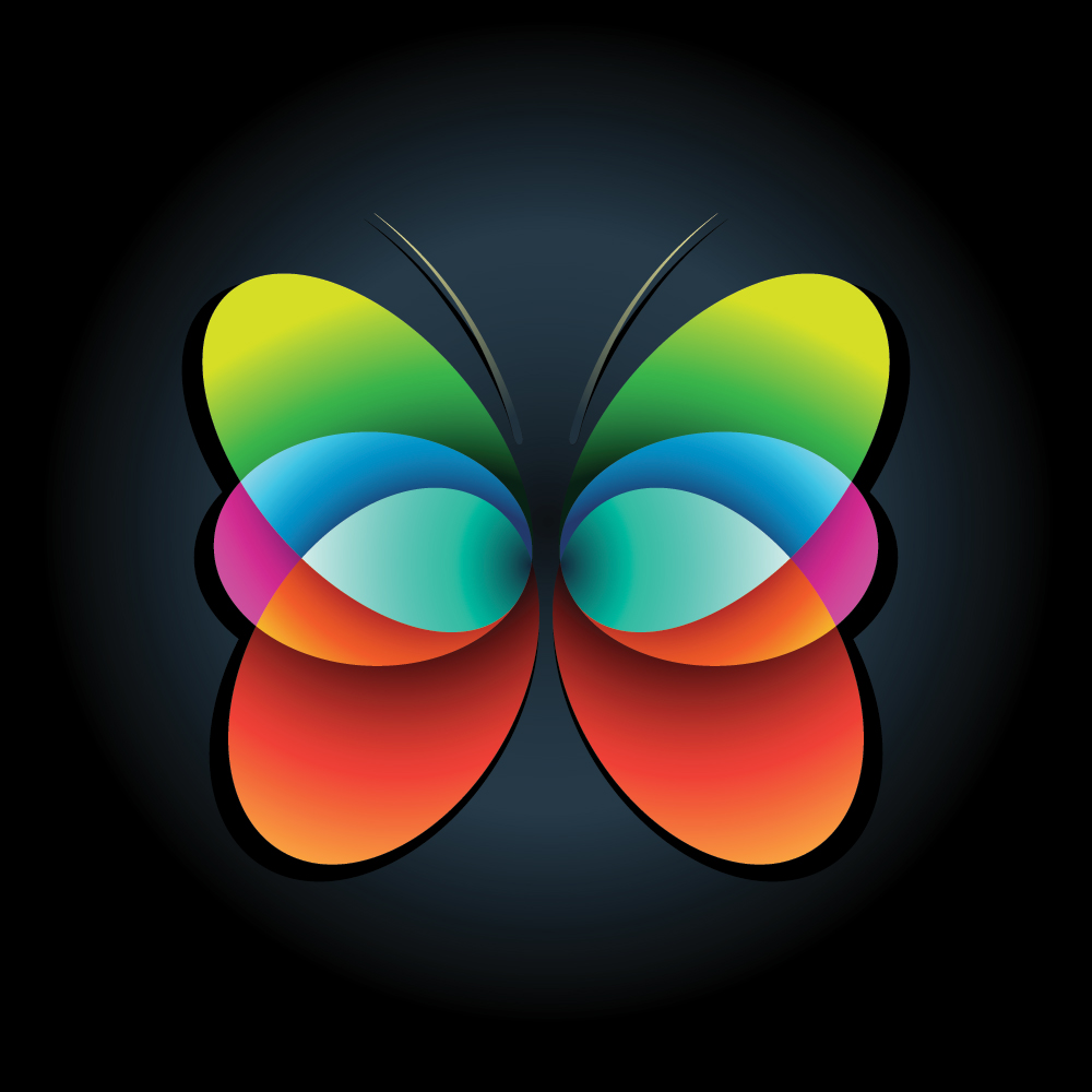 Free Stock Vector: Abstract Butterfly - The Shutterstock Blog