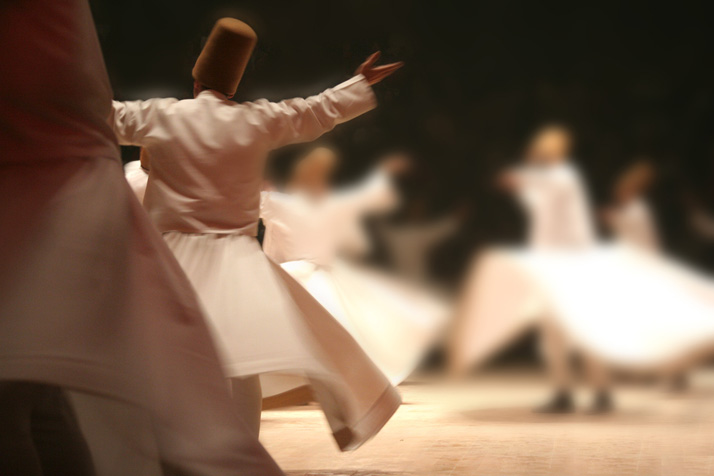 Mevlana dervishes by Shutterstock contributor Mehmetcan