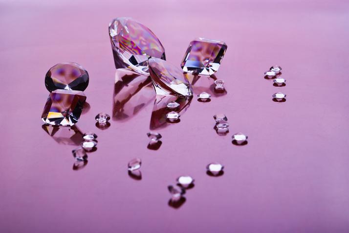 Shutterstock: Purple diamonds by Mihai Simonia