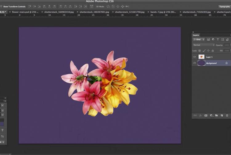 Photoshop Flower Tutorial