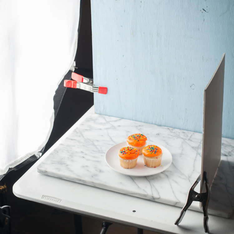 light blue background for food photography