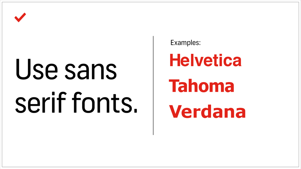 What does serif font look like