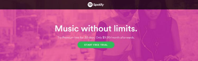 Spotify free trial 3