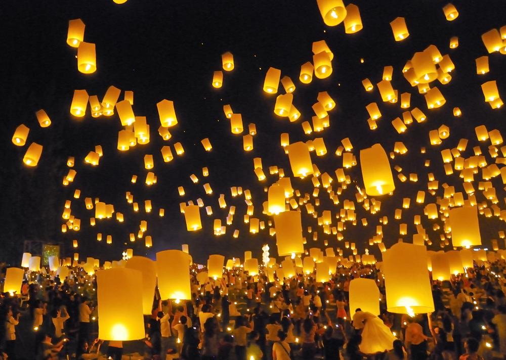 Firework festival in Chiangmai, Thailand by FWStudio