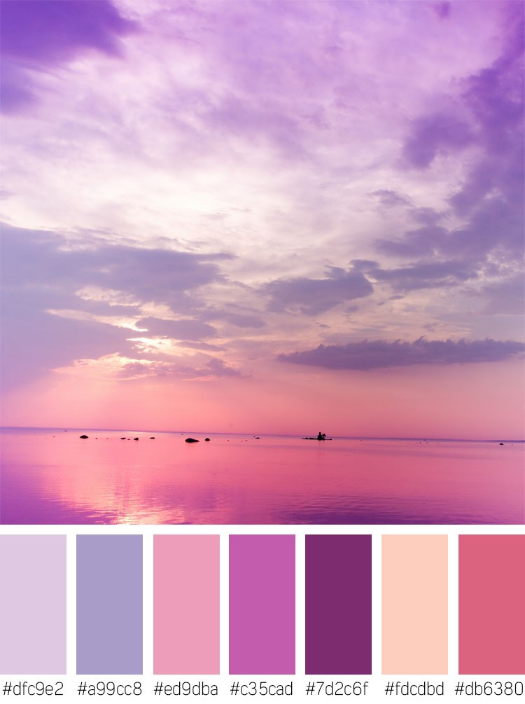 Purple Sunset Color Palette
