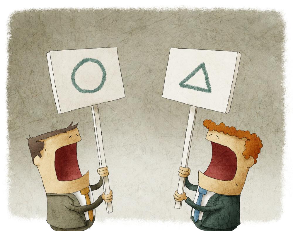 disagreement between coworkers illustration