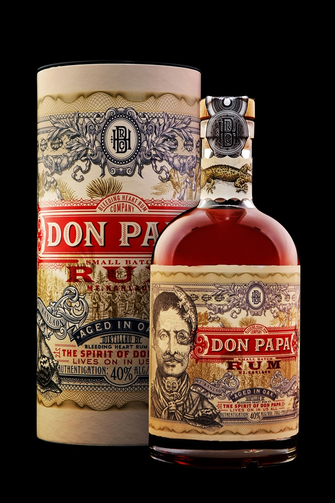 don papa rum label
