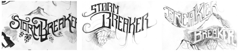 stormbreaker beer logo sketches