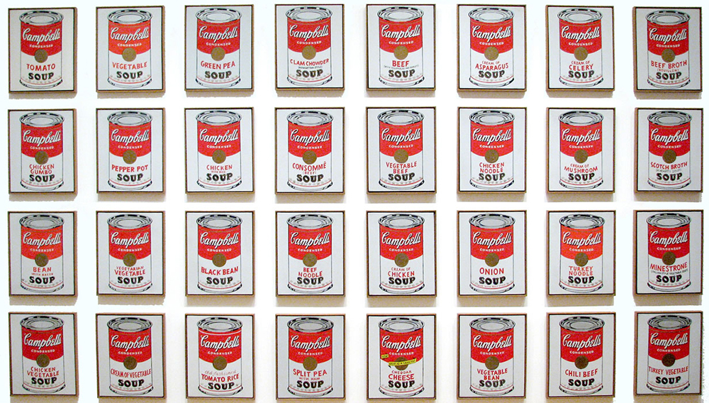 andy warhol campbells soup cans