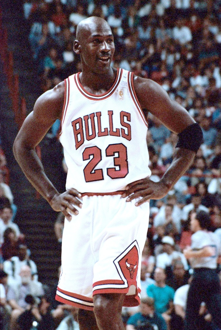 Michael Jordan and the Chicago Bulls pre season exhibition games vs Seattle Supersonics, Thomas and Mack Center, Las Vegas, October 12, 1996