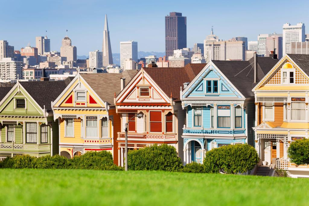 Colorful Cities - Painted ladies, San Francisco