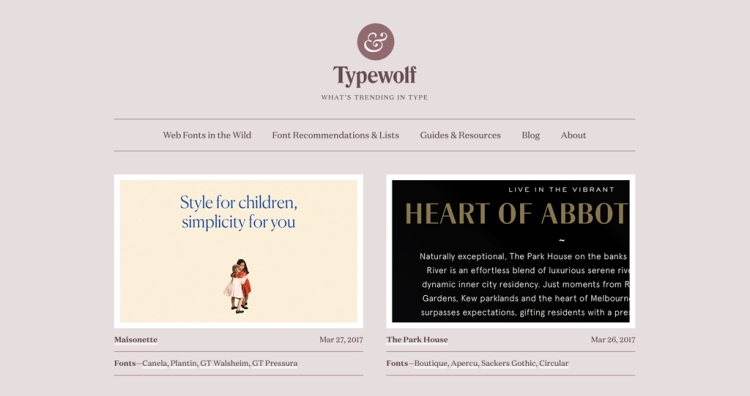 Find your perfect type combination with font-pairing sites like Typewolf