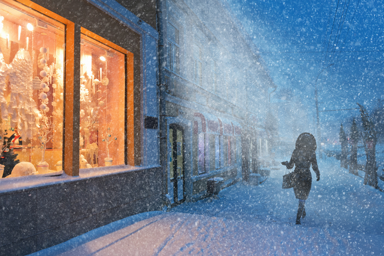 8 Photographers on Capturing Unforgettable Snow Days in the City — Christmas Lights