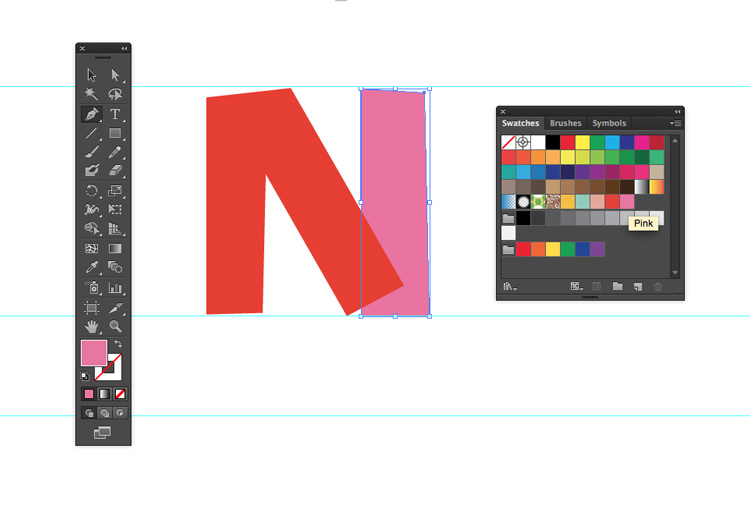How to Create Quick and Easy Geometric Typography in Illustrator — Add More Block Shapes
