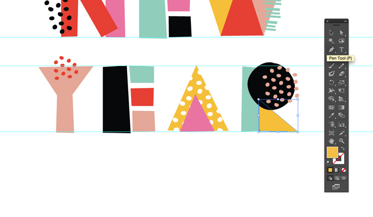 How to Create Quick and Easy Geometric Typography in Illustrator — Use Your Templates