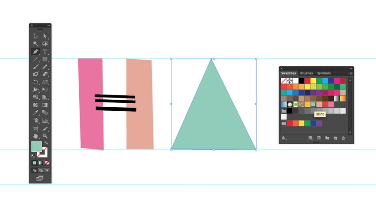 How to Create Quick and Easy Geometric Typography in Illustrator — Try Different Shapes