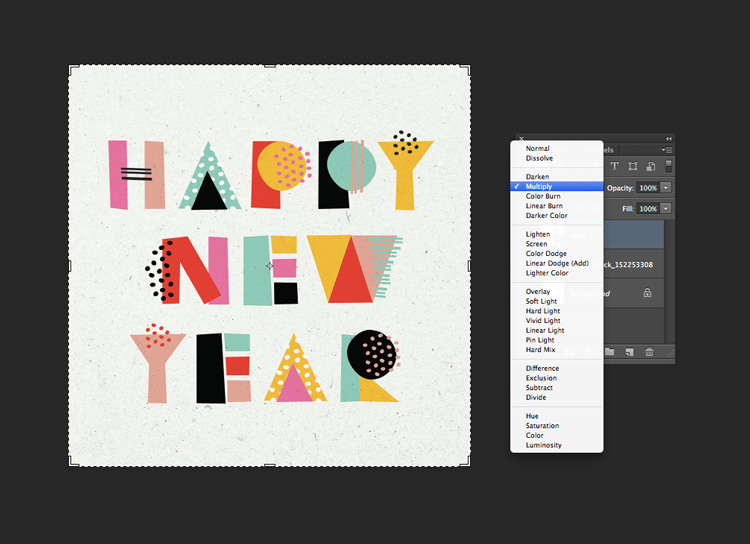 How to Create Quick and Easy Geometric Typography in Illustrator — Blending Mode