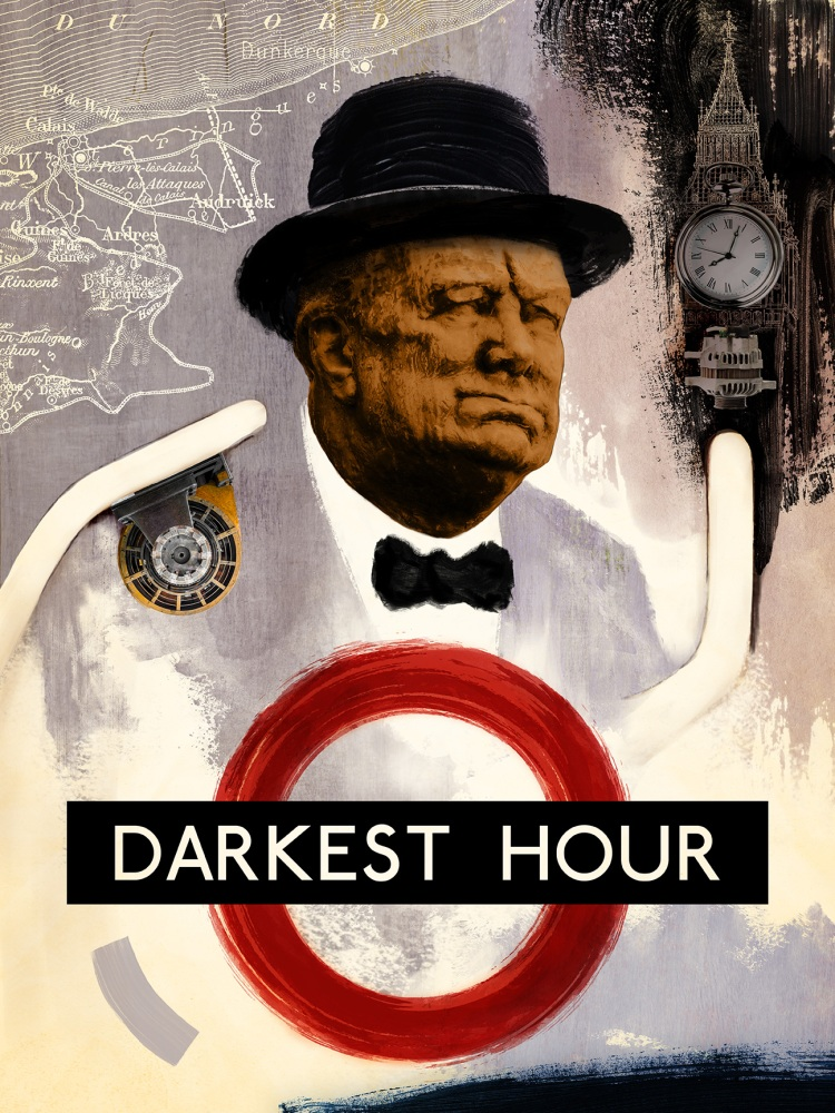Oscar Pop! The 2018 Best Picture Nominees as Pop Art Posters – Darkest Hour Movie Poster