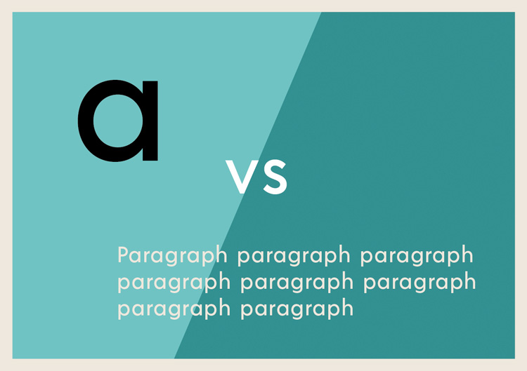 Typography Essentials: The Only Four Things You Need to Know – Letterform vs Paragraph