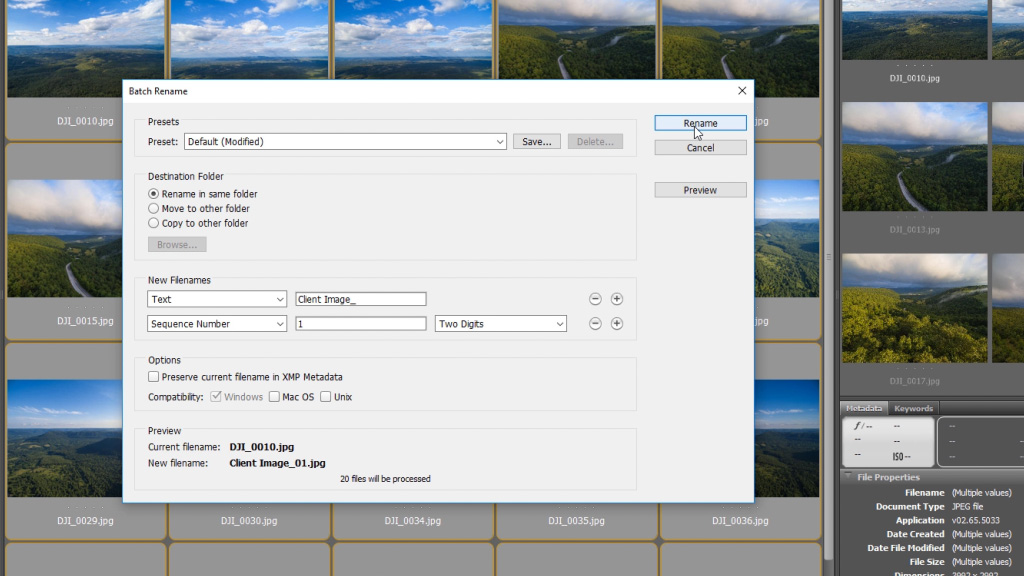 How to Batch Process Photos for Clients in Adobe Bridge