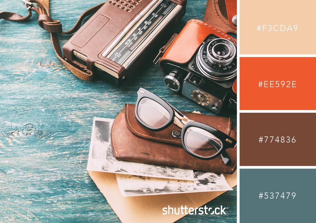 Free Swatch Download: 25 Retro Color Palettes – Vintage Lens Color Palette