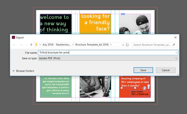 how to create a trifold brochure in adobe indesign