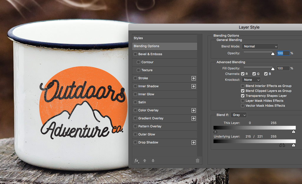How to Mockup a Logo on a Textured Surface