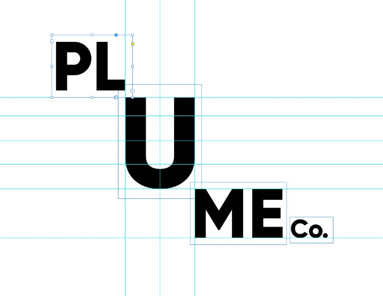 How to create a flexible type logo in Adobe InDesign: create different shapes