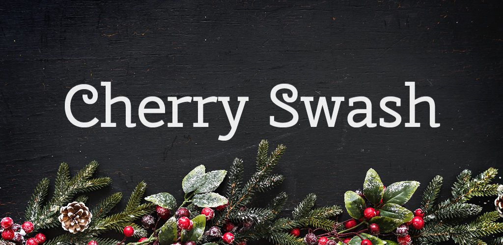 Free font for Christmas - Cherry Swash font