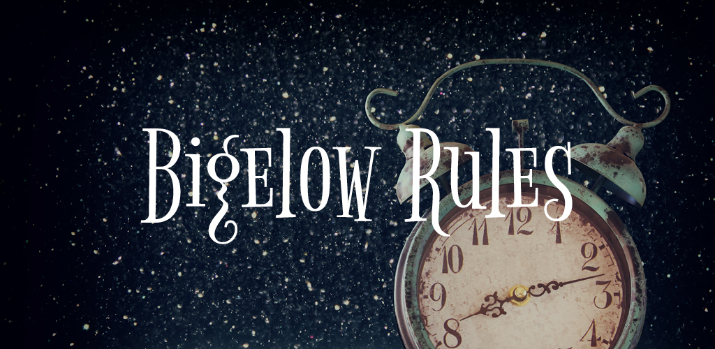 Free font for Christmas - Bigelow Rules font