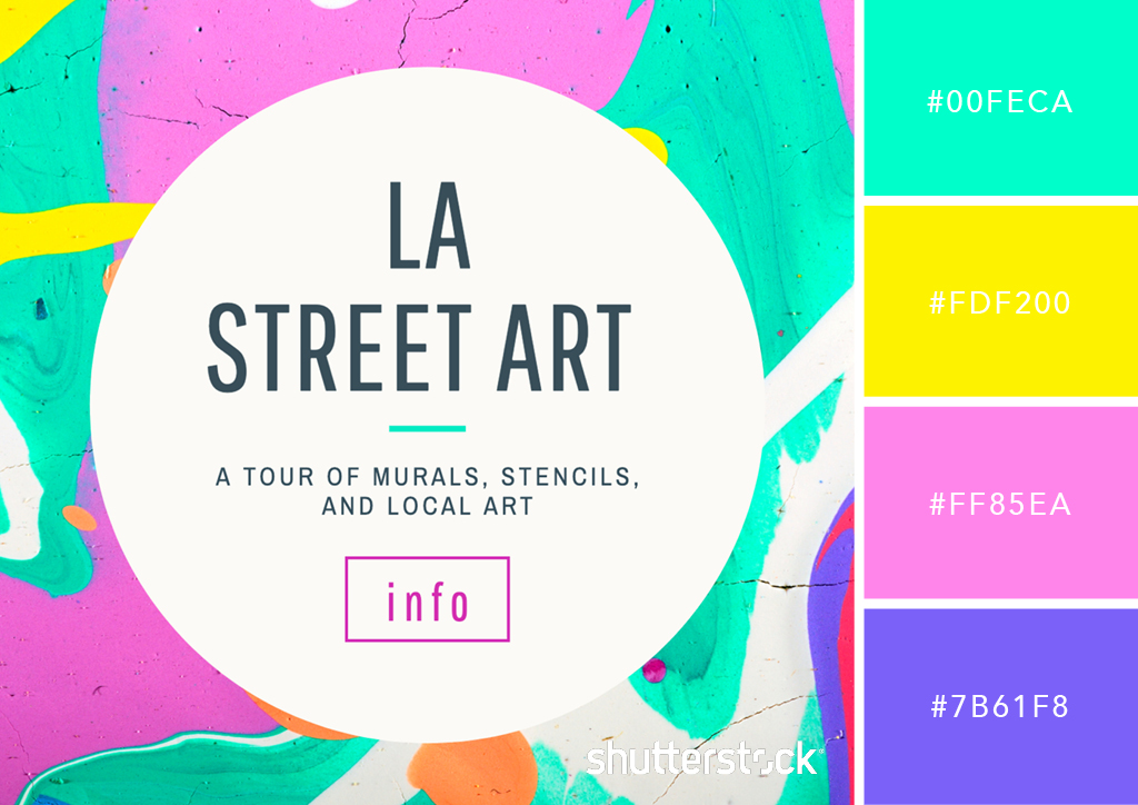 25 Eye-Catching Neon Color Palettes to Wow Your Viewers — Abstract Wall