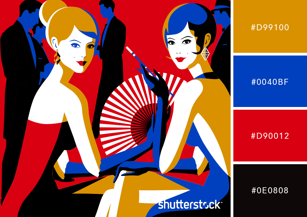 4 Art Deco Graphic Design Techniques and Applications — Bold Palette