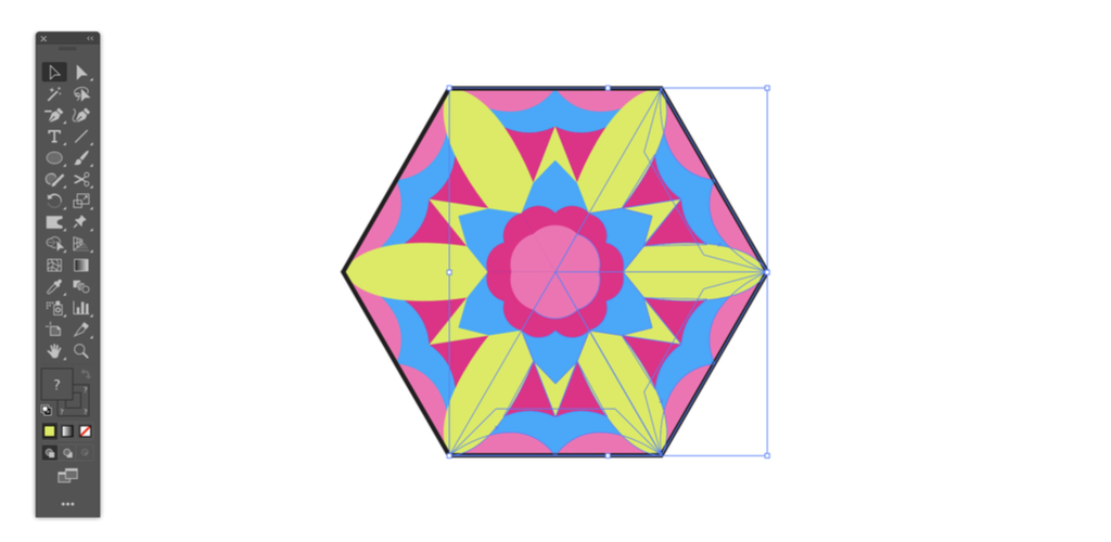 Make a Kaleidoscope Pattern with Illustrator in Three Simple Steps — Copy and Rotate