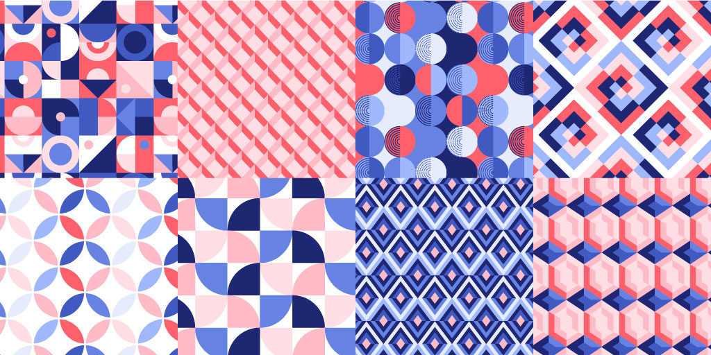Graphic Design Essentials: 8 Free Seamless Geometric Patterns — Free Pattern Pack