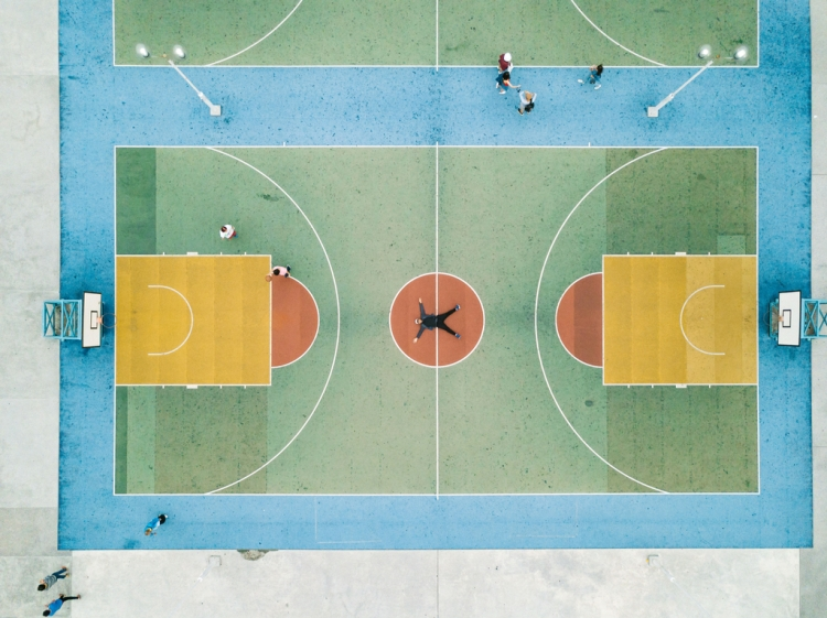 Earning Money in Stock Photography: 20 Tips from the Pros — Basketball Court and Person