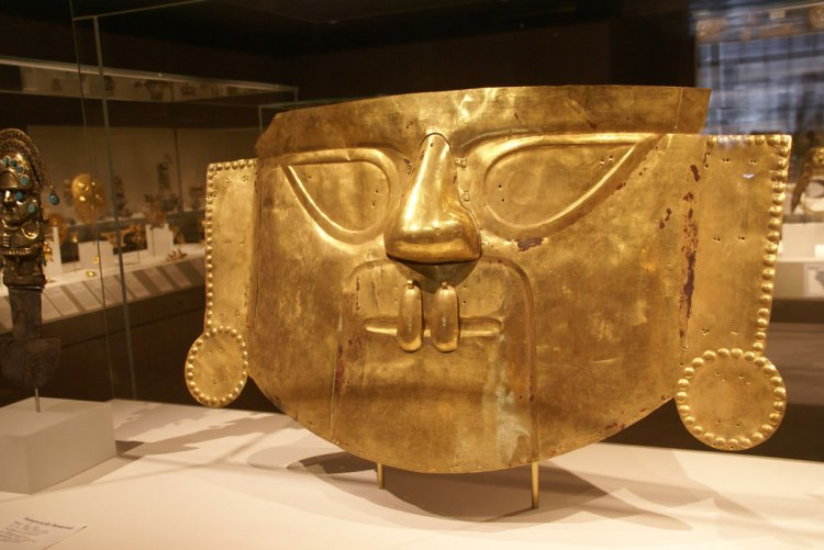 Good as Gold: The Symbolism and Design Power Color Gold — Incan Mask