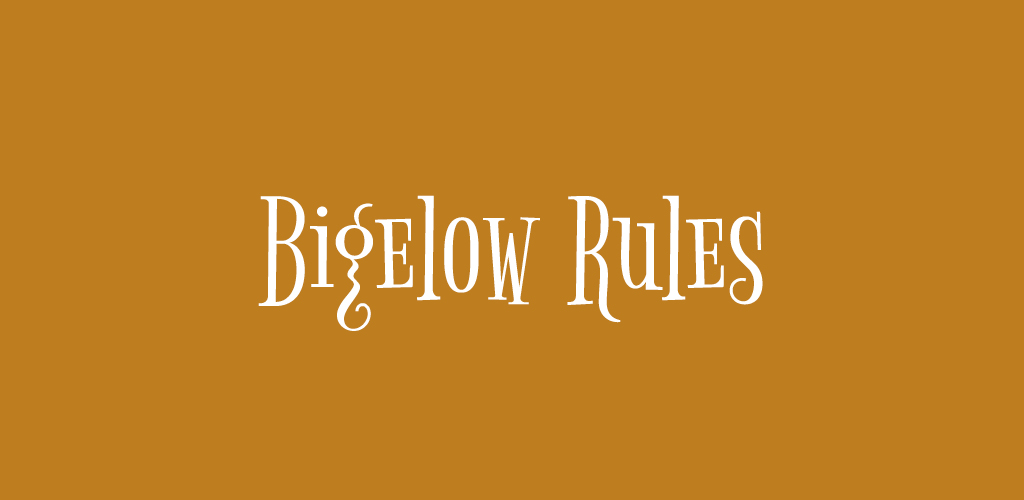 Free Holiday Font — Bigelow Rules