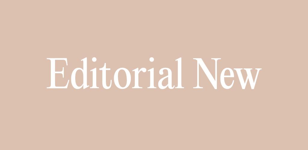 Free Modern Font — Editorial New