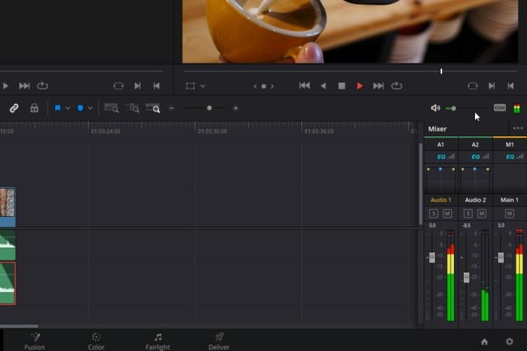 Resolve's Audio Mixer