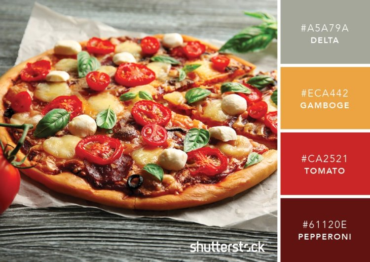 101 Color Combinations to Inspire Your Next Design + Free Swatch Download - Pizza Color Palette