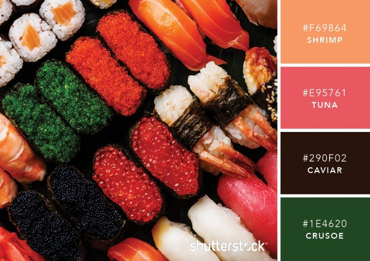 101 Color Combinations to Inspire Your Next Design + Free Swatch Download - Sushi Color Palette