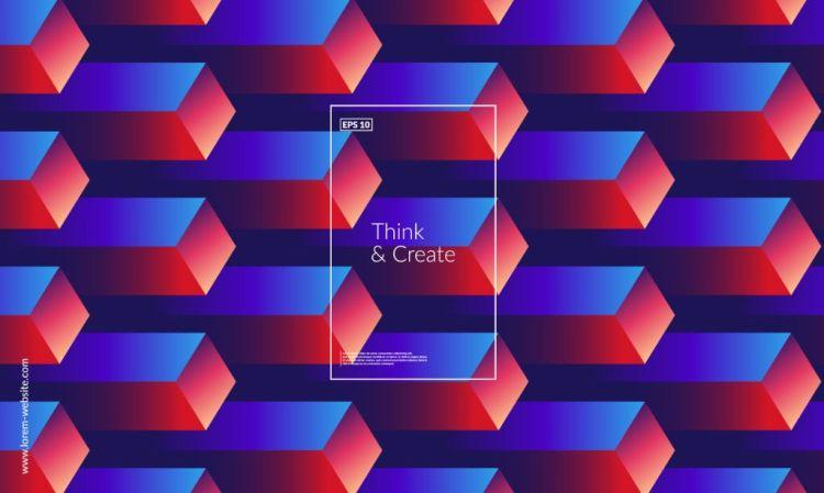 3D Cube Pattern Design