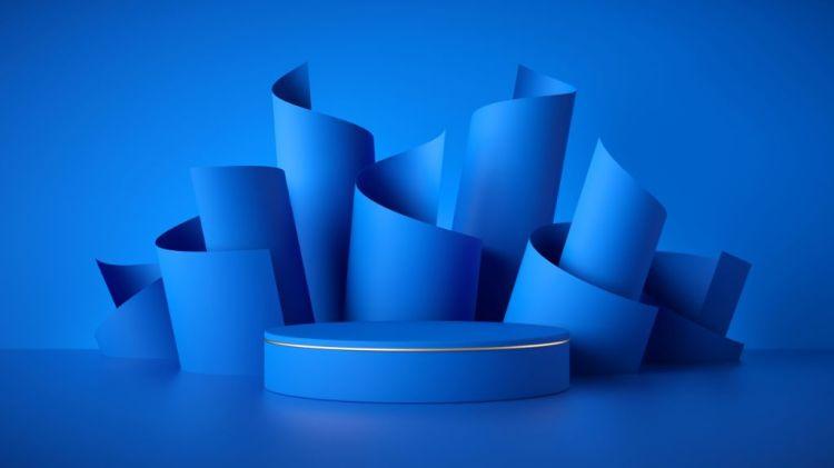 3D Modern Blue Background