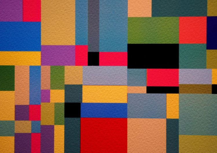 Colorful Abstract Paint Squares
