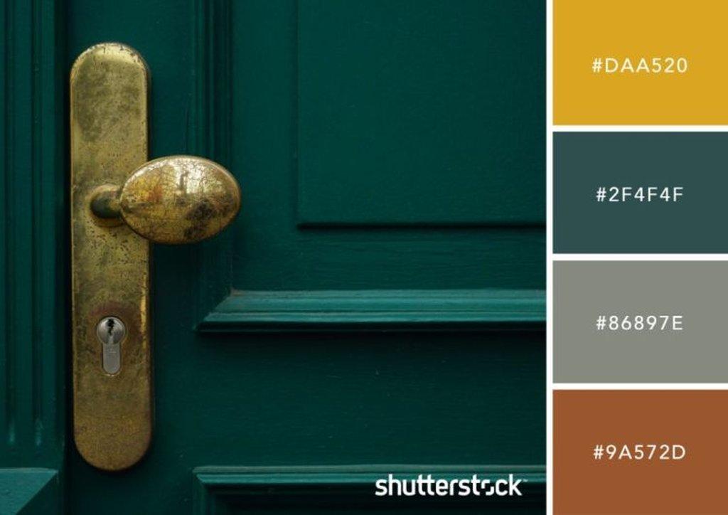 Aged Dark Green Door