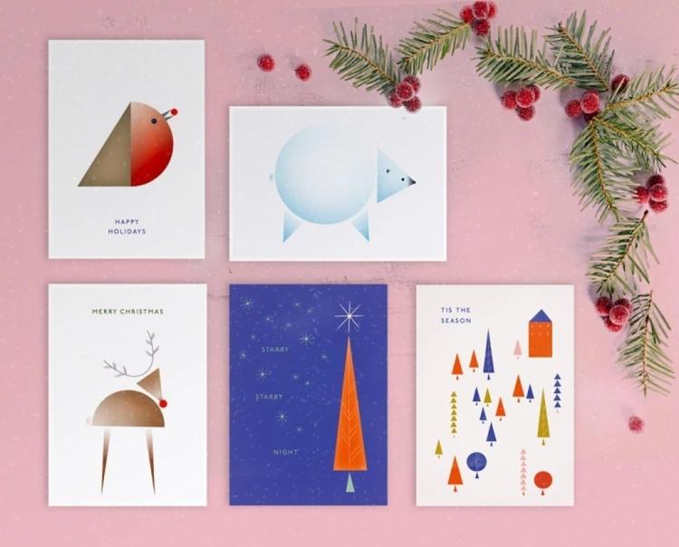 Christmas Cards Mock-up