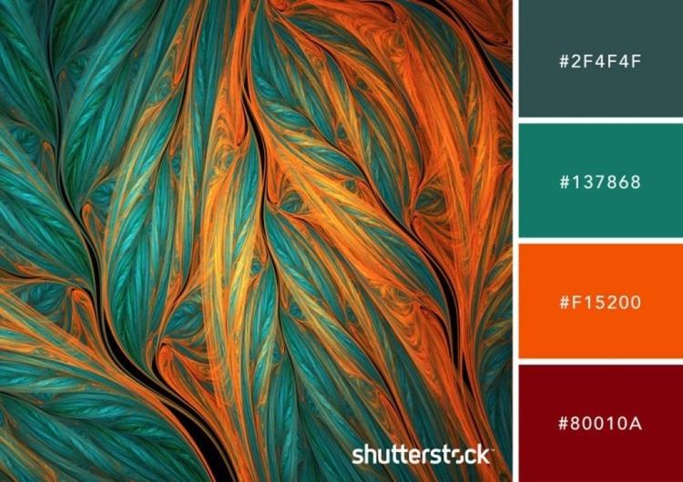 Teal and Orange Color Palette